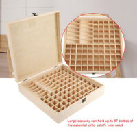 87 Slots Wooden Large Essential Oil Storage Box Case Container Organizer