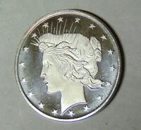 Peace Silver Dollar Design 1 oz .999 Fine Silver Round Proof Strike (6418)