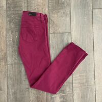 AG Adriano Goldschmied Women's Stilt Cigarette Skinny Jeans Ankle Raspberry 25