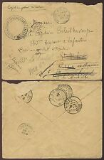 FRENCH SAHARA 1901 SOLDIERS MAIL SOKOLO CORPS EXPED.CACHET FORWARDED in FRANCE
