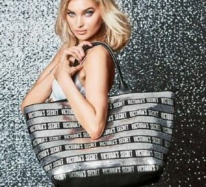 NEW SEALED VICTORIA SECRET LIMITED EDITION SEQUIN WEEKENDER BAG TOTE W/ POUCH