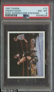 1991 Panini WWF Superstars Stickers #12 Undertaker PSA 8 NM-MT