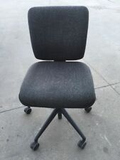 Black/Charcoal Ergonomic Office Chair Very Comfortable w/ Square Style Backrest
