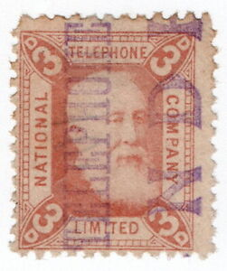 (I.B) National Telephone Company : 3d Indian Red (Dundee)