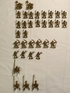 34 Gold Sculpted Warriors from 1997 Parker Brothers LIONHEART Boardgame