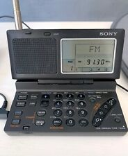SONY RADIO SHORTWAVE WORLD BAND ICF-SW100 with Sony AN-LP1 Active Antenna