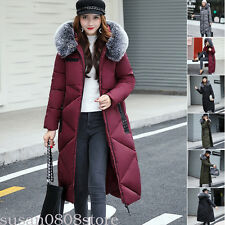 Women Winter Down Cotton long parka Fur Hooded Puffer Coat Ladies Jacket Outwear