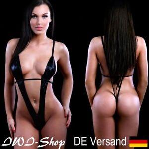 SexyDamen Dessous Reizwäsche G-String Nachtwäsche Babydoll Unterwäsche Schwarz