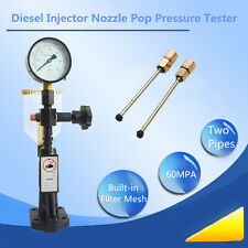 Diesel Injector Nozzle Pop Pressure Tester Dual Scale Read Gauge Bar/PSI 0-60Mpa