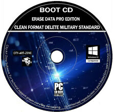 Erase Wipe Format Hard Or SSD Drive Clean Delete Destroy Data PC MAC Boot CD