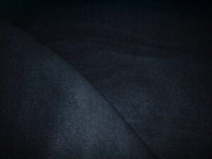 ABRAHAM MOON NAVY BLUE WOOL CASHMERE POLY COATING FABRIC IDEAL CAPE COAT JKT