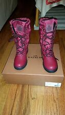NEW COACH SAGE NYLON/ANILINE LEATHER  WOMEN`S BOOTS SIZE 6  NO A9177