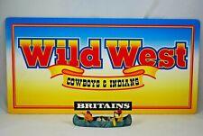 BRITAINS WILD WEST Cowboys & Indians DEALER / Collector SHOP DISPLAY SIGN MINT