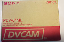 10 x SONY PDV-64ME Digital Video Cassette DVCAM
