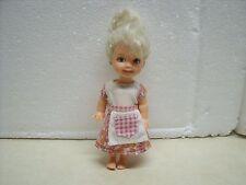 Mattel Kelly & Friends Doll Barbie Sister 1994 Blonde Hair Girl Kitchen Dress