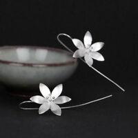 Women 925 Silver Plated Long Drop Dangle Tassel Hook Earrings Ear Jewelry New