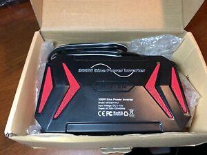 BESTEK 300W Pure Sine Wave Power Inverter DC 12V AC 110V 2 USB Charger Adapter