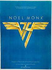 VAN HALEN 1979 original POSTER ADVERT NOEL MONK