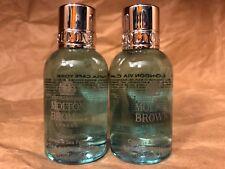 """MOLTON BROWN LONDON """"COASTAL CYPRESS & SEA FENNEL"""" BATH/BODY WASH (1.7oz x 2)NEW"""
