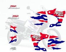 Africa twin 750 (1996 blanche) autocollant sticker decal aufkleber moto
