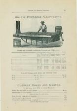 "Catalog Page Ad  ""Cook's"" &""Bell's""  Evaporators (Still) Cane Maple Sugar  1885"