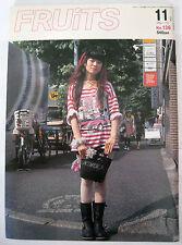 FRUITS MAGAZINE NO.136 2008 FASHION JROCK JAPAN EMO VISUAL KEI COSPLAY LOLITA