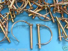 FREE P&P* 20 x 8mm Shaft Locking Retaining Pin - D Clip Lynch Linch for Trailers