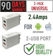 2-pack 12W 5V 2.4A Double USB Charger For Amazon Kindle 2/3/4/5/7/9/10gen Tablet
