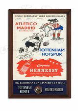 SPURS, Tottenham Hotspur 1963 European Cup Winners Cup Sign,Retro, Wooden Plaque