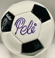 Pele Signed Soccer Ball Autographed Black and White - PSA/DNA ITP COA Imperfect