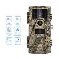 20MP Trail Camera 1080p HD Farm Security Cam Night Vision 0.4s Trigger No Hidden