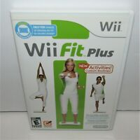 Wii Fit Plus (Nintendo Wii, 2009) No Balance Board Tested & Working