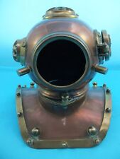 Vintage Copper & Brass Diving Helmet Ornament Replica Desk Deep Sea Heavy Metal