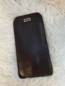 Authentic Gucci Brown Leather Eyeglass Case