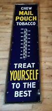Original Mail Pouch Porcelain Tobacco Thermometer Sign