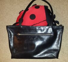 Monsac Original Black Leather Shoulder Bag