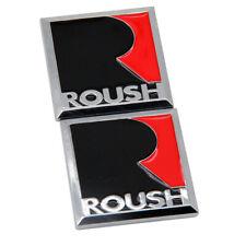 2x Roush R Metal Fender Emblem 3d Badge Car Body Stickers For Mustang Gt V6 V8 Fits Focus