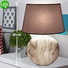 RGB LED Tisch Lampe Lese Wohnraum Keramik BUDDHA Asien Textil Leuchte DIMMER