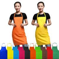 Apron With Front Pocket For Chefs Butchers Home Kitchen Cooking Craft Baking Bib