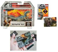Jurassic World Velociraptor Blue Action Figure + One Premium Trading Card.
