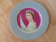 Queen Elizabeth II Coronation Plate 1953 Painted By Allen Hughes