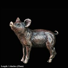 Pig Solid Bronze Foundry Cast Detailed Sculpture by Butler & Peach [2038]