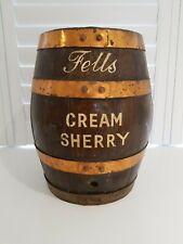 More details for 🕊a vintage garden man cave wooden fells cream sherry drinks barrel