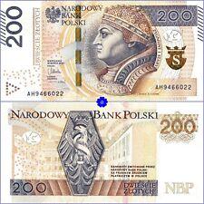 POLAND 200 ZLOTYCH 30.03.2015(16) *P-189*PREFIX AH*UNC*Banknote