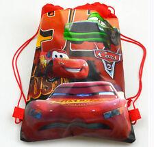 Disney Cars McQueen Cartoon Drawstring Backpack Kid School Non-woven Bag