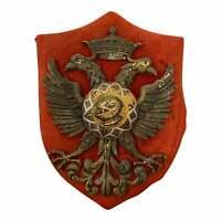 Antico stemma araldico in metallo