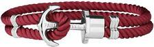Paul Hewitt Ankerarmband PHREP IP Silber Rot 18 cm - UVP: 39,90 €