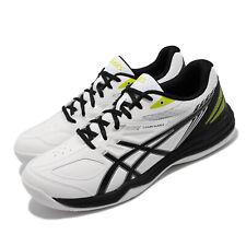 Asics Court Slide 2 White Black Yellow Men Tennis Shoes Sneakers 1041A194-100