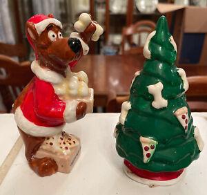 Scooby Doo Christmas Salt & Pepper Shaker Set in Box Warner Bros. Vintage Pizza