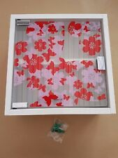 Wall Mounted Medicine Cabinet First Aid Box Glass Door  2 Shelves COLOUR  PINK